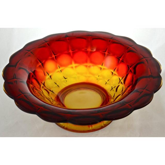 Amberina Petal Rim Centerpiece Bowl - Image 2 of 5