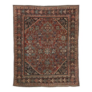 Vintage Persian Mahal Rug - 09'09 X 12'00 For Sale