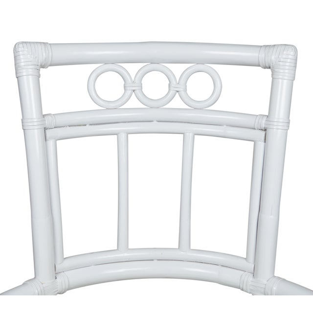 Ficks Reed Colony White Rattan Armchairs - a Pair - Image 4 of 7
