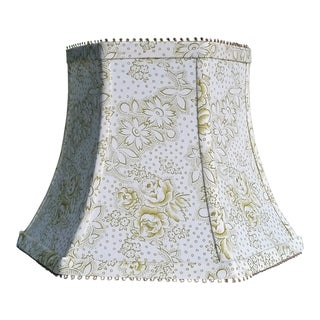Vervain Fabric Floral Lampshade White Green Custom Made to Order For Sale