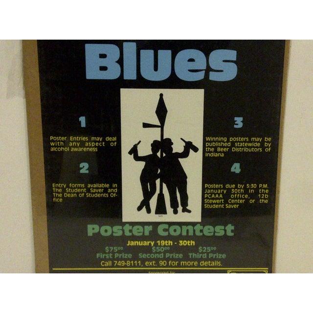 "1980 Vintage ""Booze Blues"" Concert Poster For Sale - Image 5 of 5"