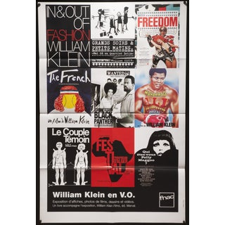 "1998 French ""William Klein en V.O."" Poster For Sale"