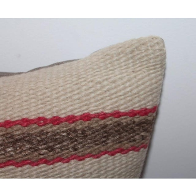 Country Early and Rare Pictorial Navajo Indian Weaving Pillow For Sale - Image 3 of 4