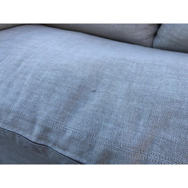 Restoration Hardware Belgian Track Arm Classic Slipcover 6' Sofa For Sale In Los Angeles - Image 6 of 8