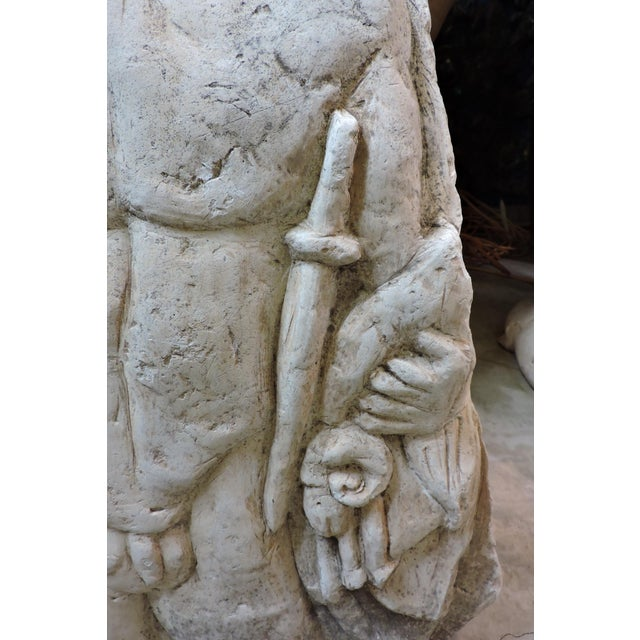 Figurative Bas Relief Carving of a Roman Soldier For Sale - Image 3 of 6