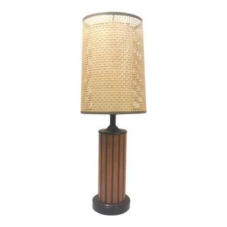 Danish Modern Teak Lamp with Double Shade