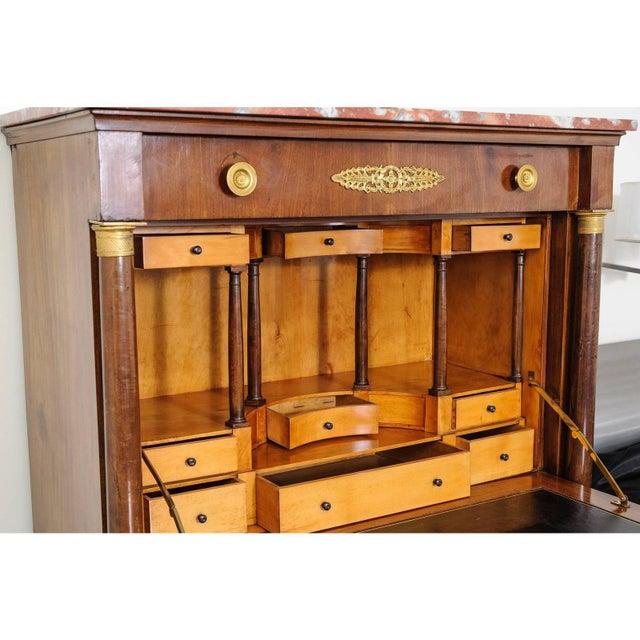 French Antique 1817 Ipolito Ceri Secretaire a Abbant Secretary Desk For Sale - Image 3 of 12