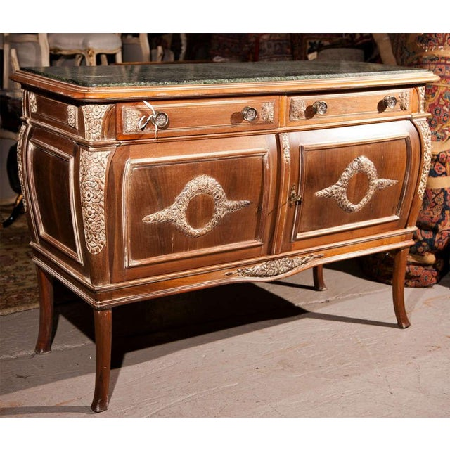 French French Empire Style Marble-Top Sideboard For Sale - Image 3 of 9