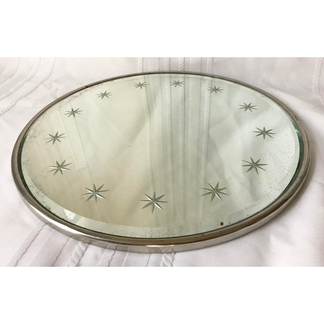 Metal 1960s Atomic Mid Century Plateau Vanity Mirror For Sale - Image 7 of 7