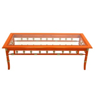 Vintage Palm Beach Style Coffee Table For Sale