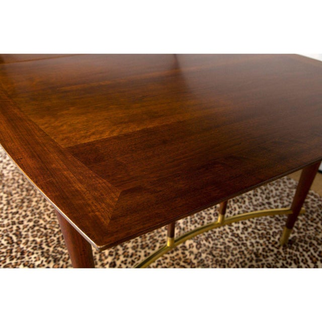 Mid 20th Century Bert England for Johnson Furniture Walnut Dining Table With 3 Leaves For Sale - Image 5 of 9