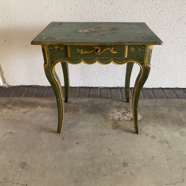 19th Century Hand Painted Side Table For Sale - Image 4 of 9