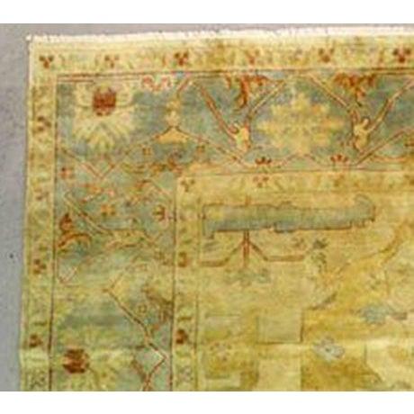 """Large Oushak Rug - 10' x 8'3"""" - Image 3 of 4"""