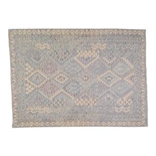 "Afghan Hand Made Undyed Wool Maimana Kilim,5'6""x7'8"" For Sale"