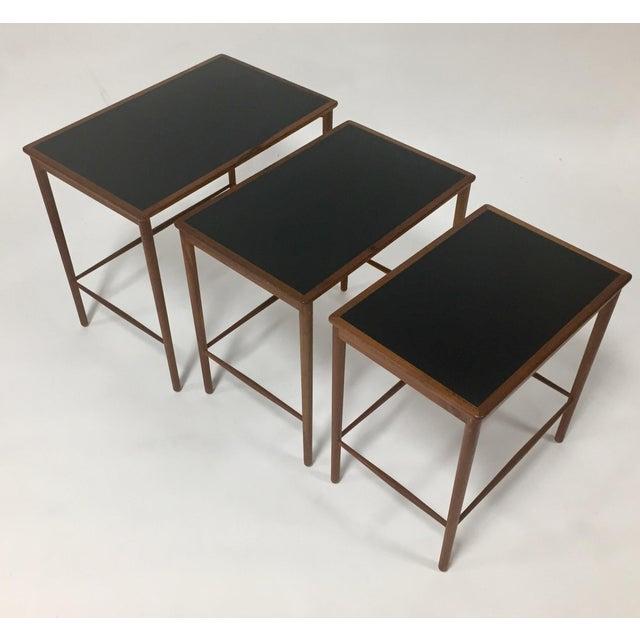 Poul Jeppesen 1970s Mid Century Modern Poul Jeppesen Nesting Tables - Set of 3 For Sale - Image 4 of 7