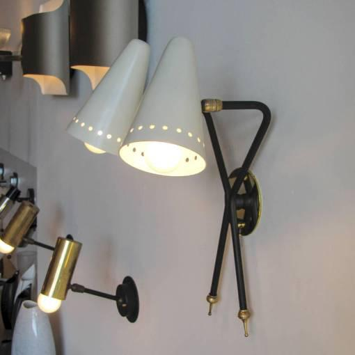 French Double-Arm Wall Light by Arlus - Image 8 of 10