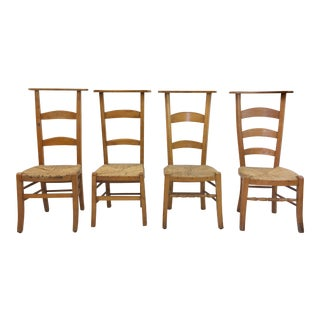 Antique Wooden Shaker Style School Chairs - Set of 4 For Sale