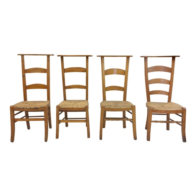 Antique Wooden Shaker Style School Chairs