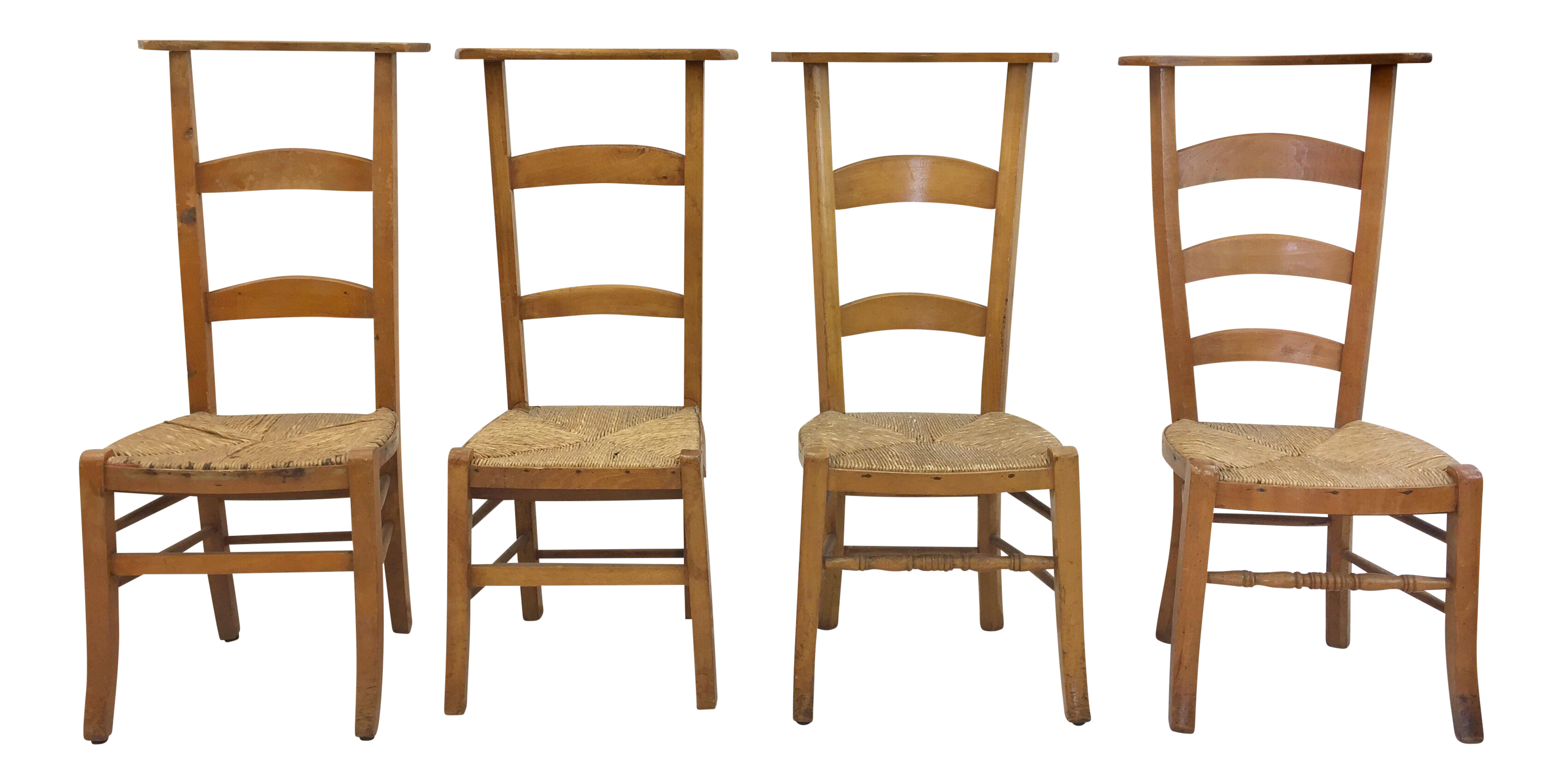 Antique Wooden Shaker Style School Chairs   Set Of 4 For Sale