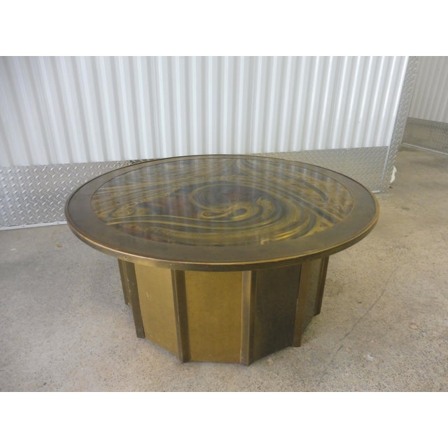 Mid-Century Modern 1980's Vintage Mastercraft Bernhard Rohne Musical Note Coffee Table For Sale - Image 3 of 9