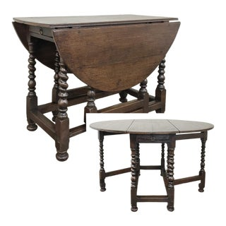 18th Century English Gateleg Drop Leaf Table For Sale
