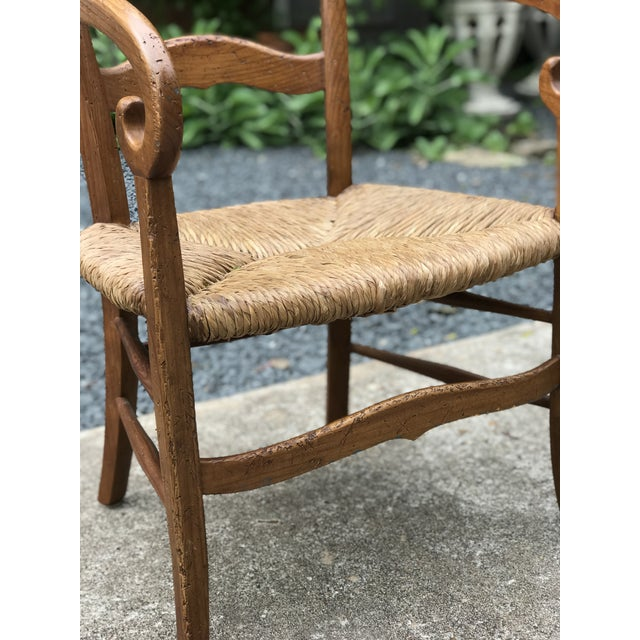 Country 1980s Charles X Style Armchairs - Set of 6 For Sale - Image 3 of 9
