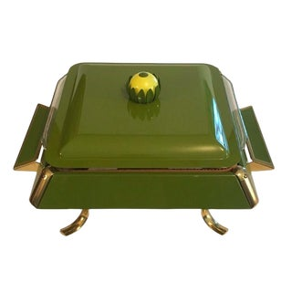 Mod Midcentury Lotus Chafing Dish For Sale