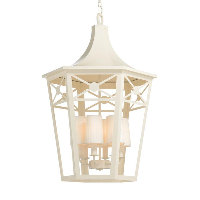 Church Court Lantern, White For Sale In Raleigh - Image 6 of 6