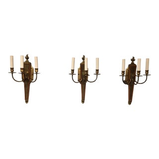 Andre Arbus Wall Sconces - Set of 3 For Sale