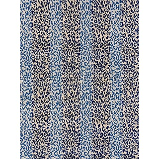 Scalamandre Corbet Jacquard, Blue For Sale