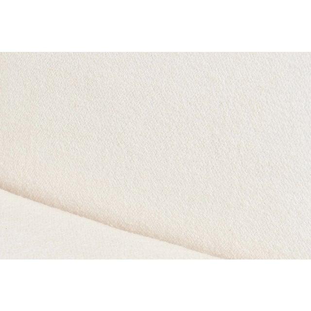 Modern Drama White Boucle Pouf Sofa For Sale - Image 10 of 11