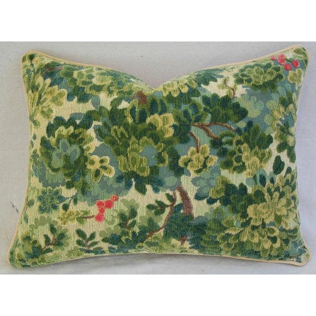 Custom-Tailored Scalamandre Velvet Marly Pillows - Pair - Image 7 of 11
