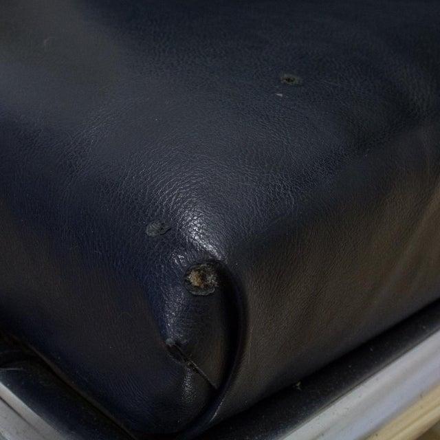 Tubular Chrome & Navy Vinyl Club Chair - Image 7 of 8