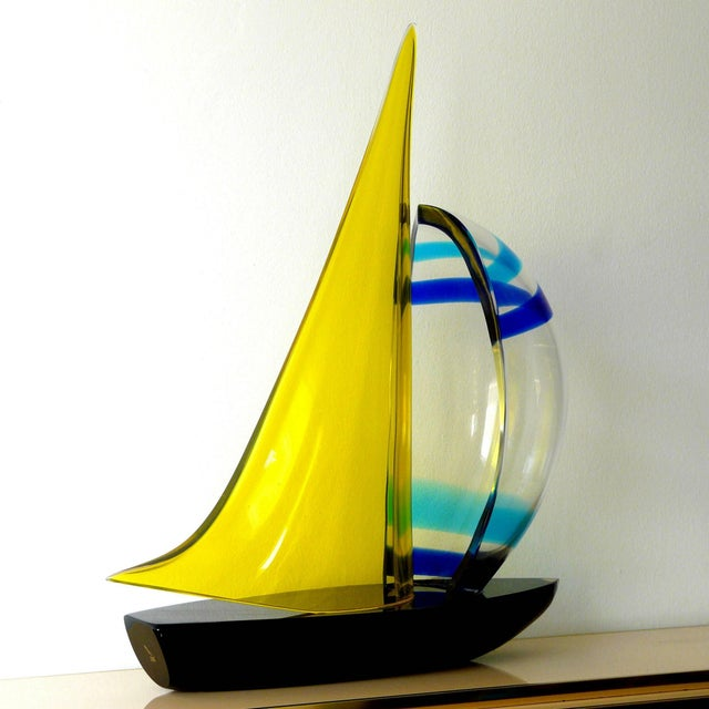 Modern Sailboat Sculpture by Romano Dona' For Sale - Image 3 of 10