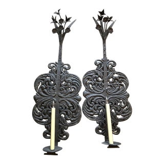 Baroque Style Wall Sconces - a Pair For Sale