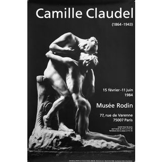 1984 Black and White Exhibition Poster, Camille Claudel For Sale