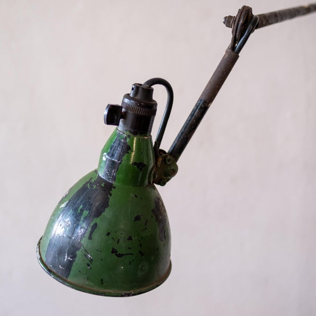 Mazda Vintage French Industrial Wall Lamp 1930s For Sale - Image 4 of 13