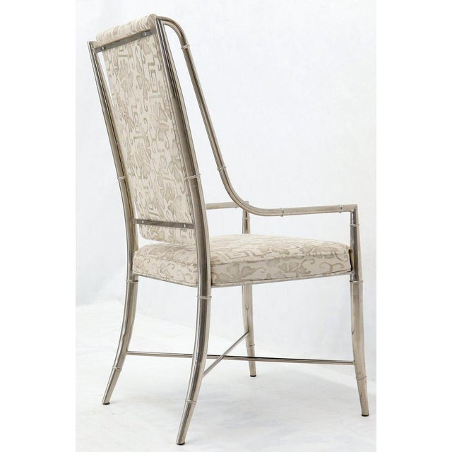 Metal Imperial Dining Room Chair by Weiman / Warren Lloyd for Mastercraft in Chrome For Sale - Image 7 of 13