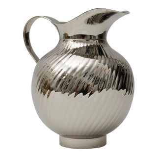 Mid-Century Modern Water Pitcher Nickel Plated For Sale