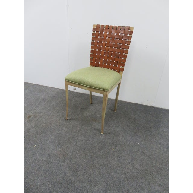 Modern Harden Iron & Leather Side Chair For Sale In Philadelphia - Image 6 of 6