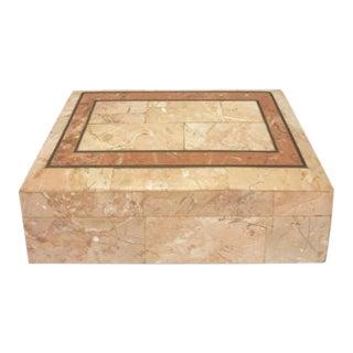 1970s Rectangular Maitland Smith Rose Stone Box For Sale