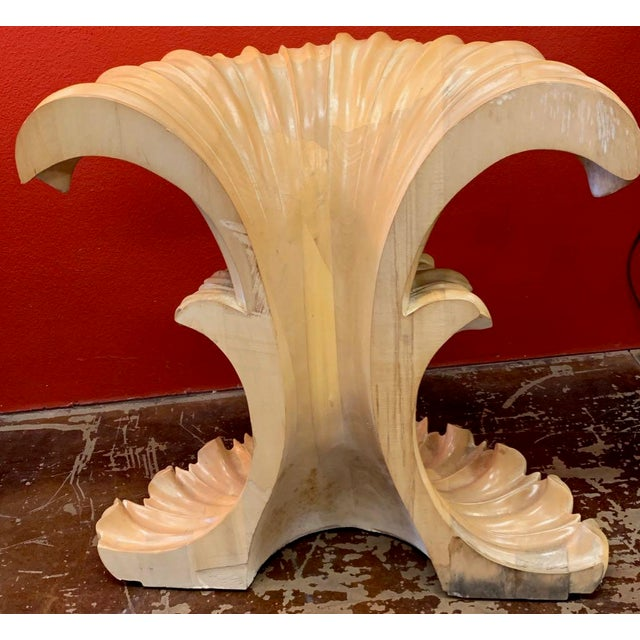 Tan 20th Century Art Deco Console Table Base For Sale - Image 8 of 12