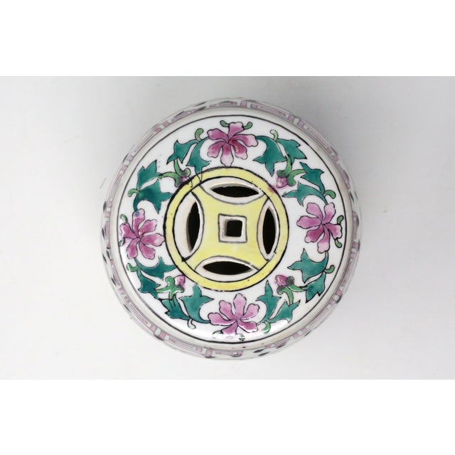 Miniature Ceramic Garden Stool Figurine For Sale In Tampa - Image 6 of 13