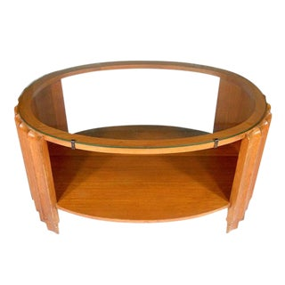 Art Deco Scalloped Coffee Table Attributed to Paul Frankl For Sale