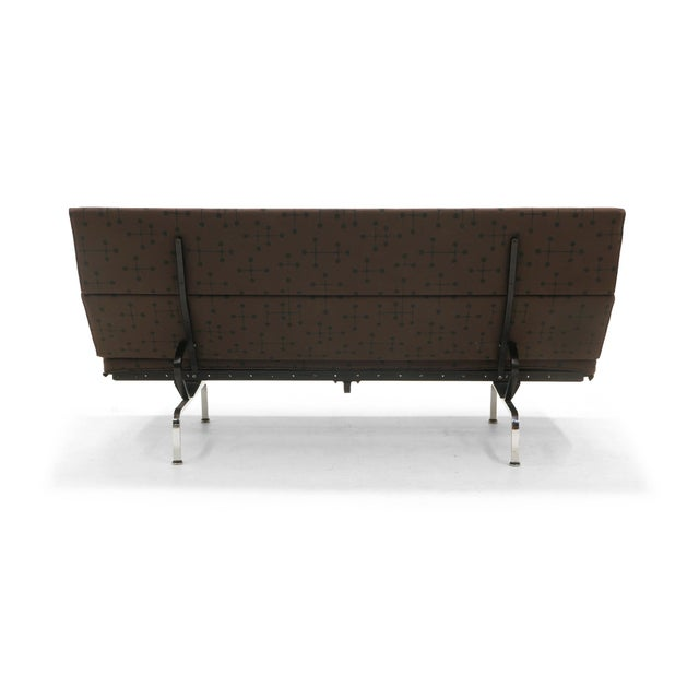 Mid-Century Modern Charles and Ray Eames Sofa Compact for Herman Miller in Eames Dot Pattern Fabric For Sale - Image 3 of 10