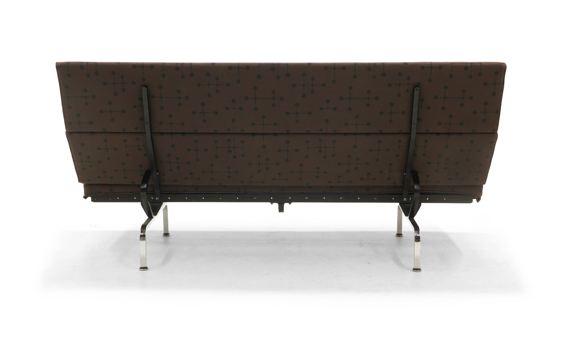 Charles And Ray Eames Sofa Compact For Herman Miller In Eames Dot Pattern  Fabric   Image