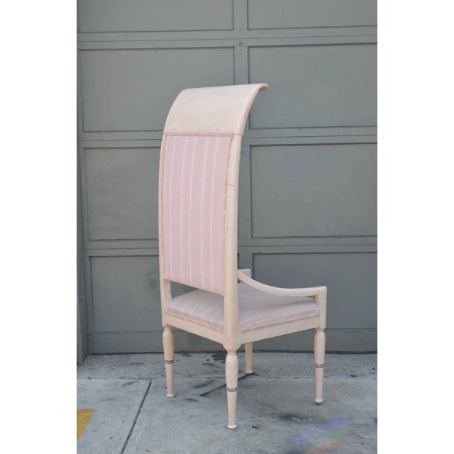 Traditional Whimsical Viennese Secessionist High Back Chair For Sale - Image 3 of 6