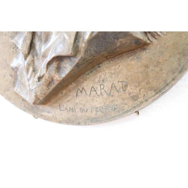 French 19th Century French Sculpture in Bronze Jean Paul Marat Portrait, 1868 For Sale - Image 3 of 7