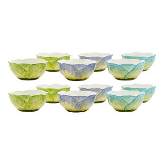 Moda Domus x Chairish Exclusive Small Bowls in Blue, Purple, and Green- Set of 12 For Sale