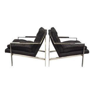 Cy Mann Chrome Lounge Chairs - a Pair For Sale